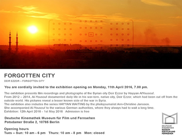 Forgotten city Filmmuseum invitation low